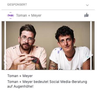Screenshot einer Instant Article Ad auf Facebook