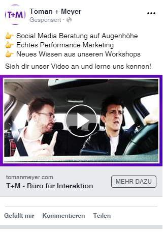 Beispiel für Brand Awareness-Anzeige auf Facebook