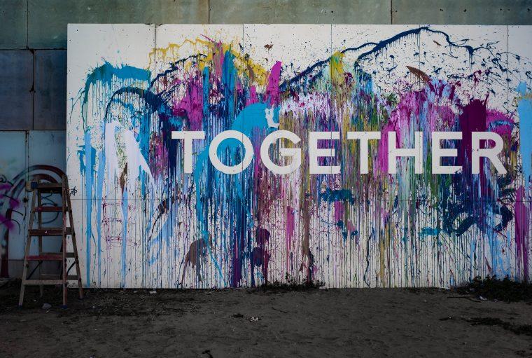 Sinnbild für Zusammen - Together Graffiti