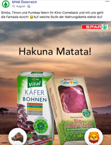 SPAR Österreich Kampagne Hakuna Matata